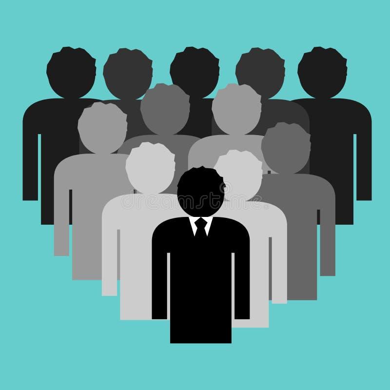 Gruppo di affari con il capo del capo illustrazione vettoriale
