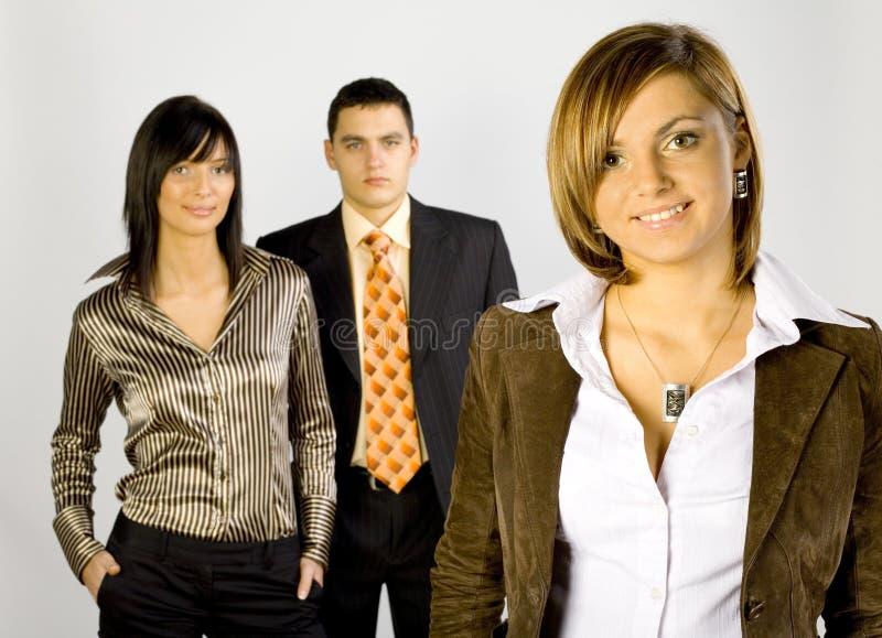 Gruppo di affari con la guida femminile fotografie stock libere da diritti