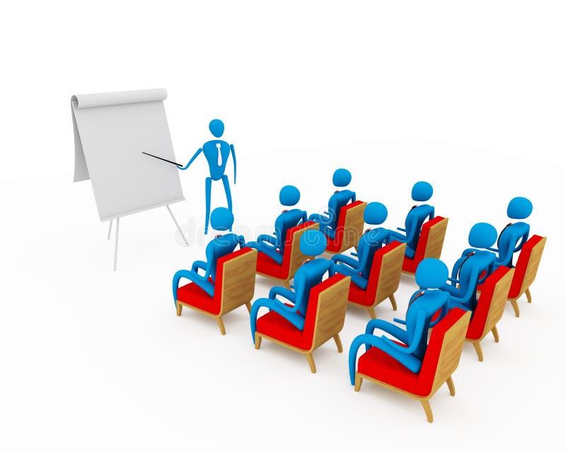 Gruppo di allievi e di insegnante illustrazione vettoriale