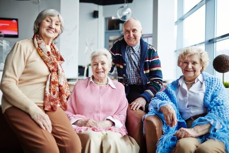 Gruppo di anziani fotografie stock libere da diritti