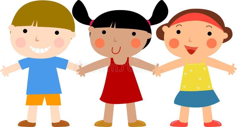 Gruppo di bambini royalty illustrazione gratis