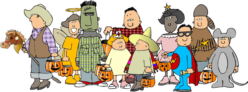 Gruppo di bambini 2 di Halloween illustrazione vettoriale