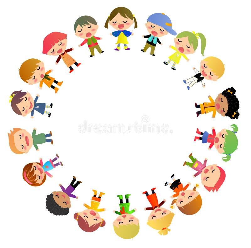 Gruppo di bambini che stanno intorno royalty illustrazione gratis