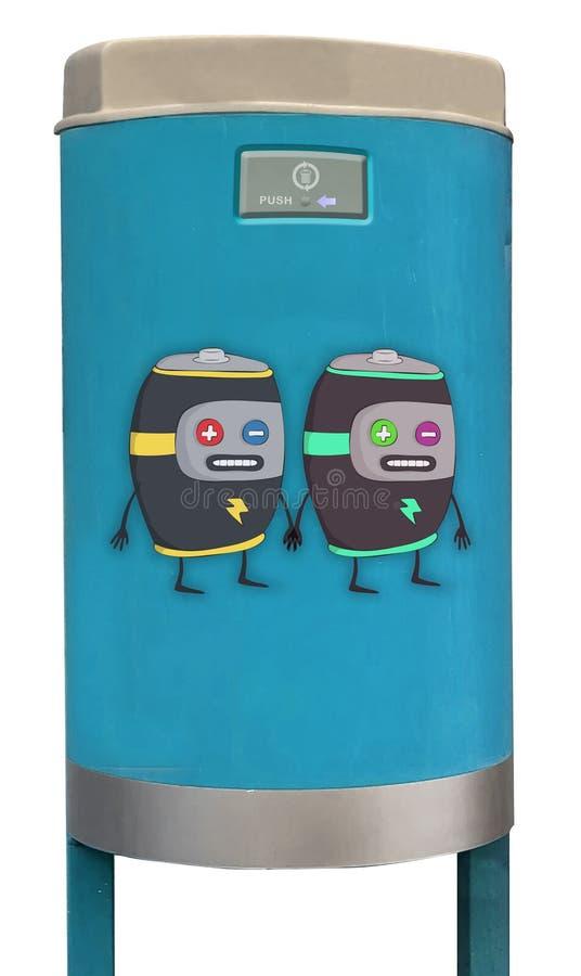 Gruppo di batterie esaurite per disposizione fotografie stock