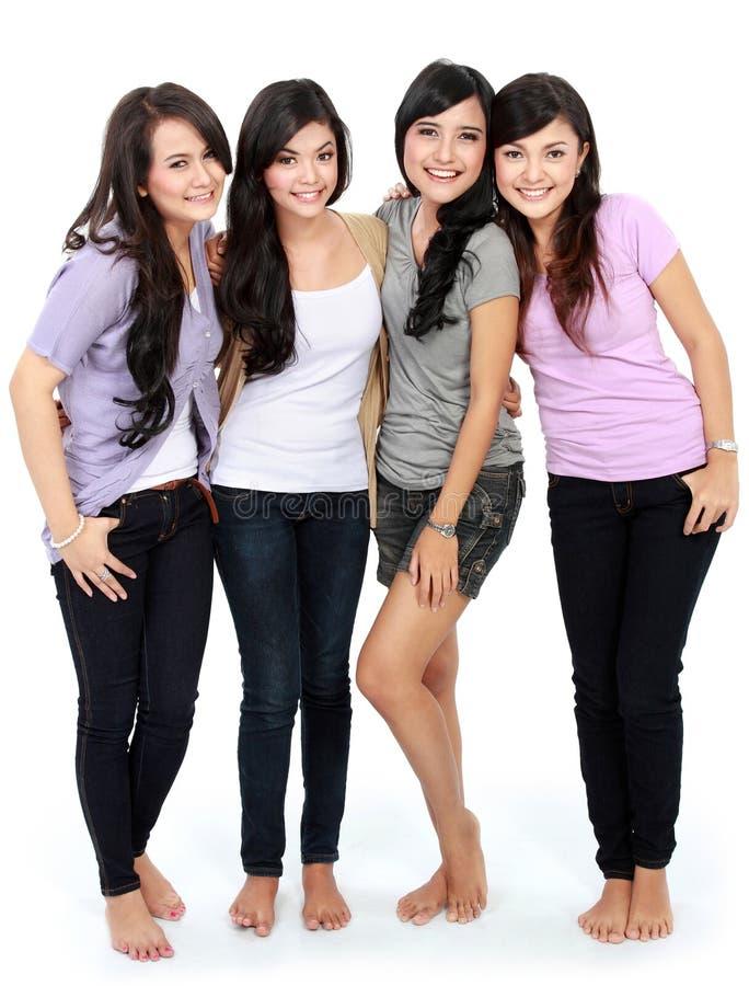 Gruppo di bello sorridere delle donne fotografia stock libera da diritti
