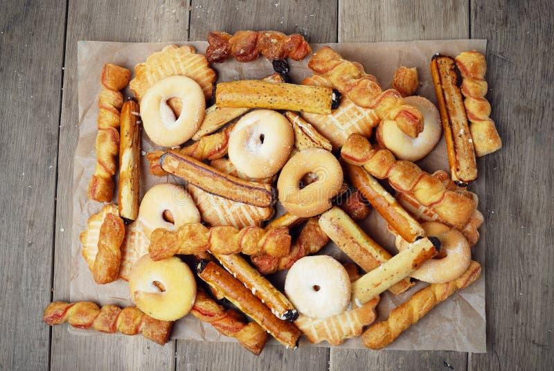 Gruppo di biscotti saporiti dolci fotografia stock libera da diritti