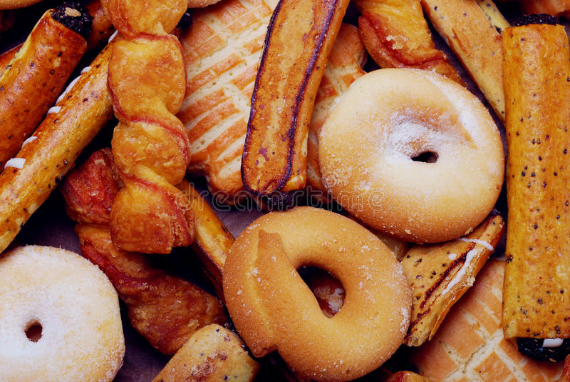 Gruppo di biscotti saporiti dolci fotografia stock