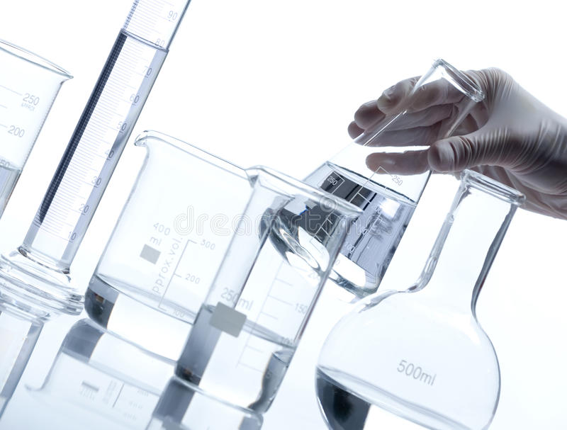 Gruppo di boccette di vetro vuote immagini stock libere da diritti