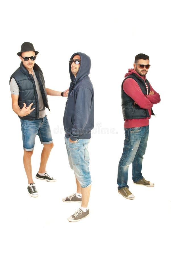 Gruppo di break-dance dei tipi fotografie stock libere da diritti