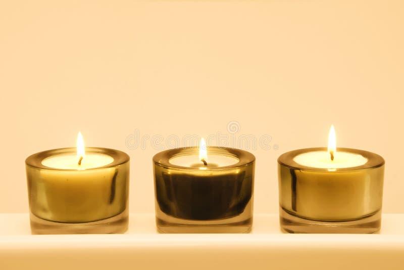 Gruppo di candele immagine stock libera da diritti