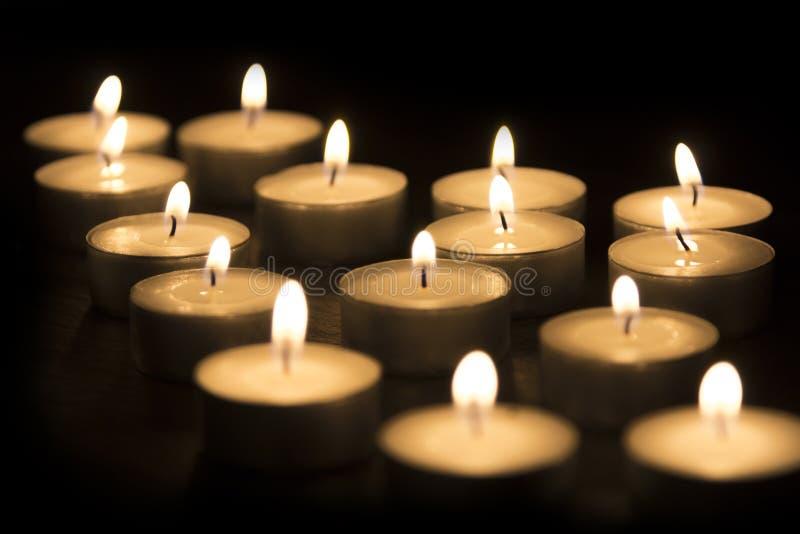 Gruppo di candele del tè immagini stock libere da diritti