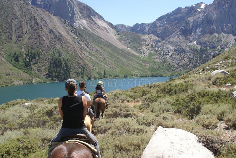 Gruppo di cavalieri di Horseback fotografie stock