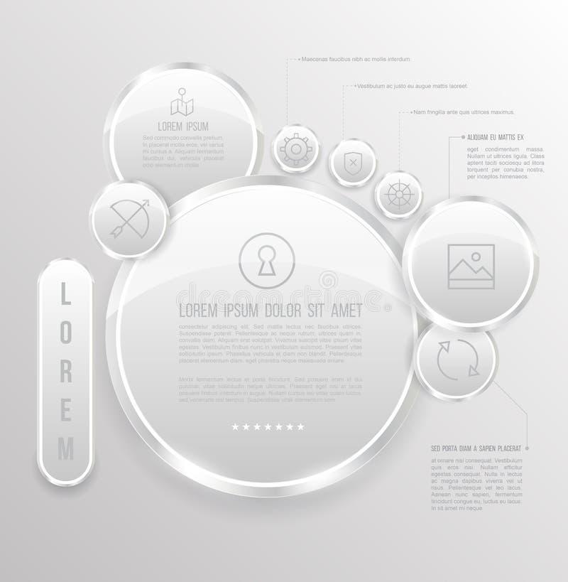Gruppo di cerchi con le icone royalty illustrazione gratis