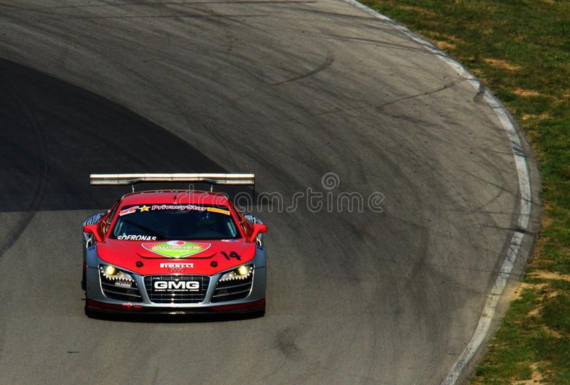 Gruppo di corsa di Audi R8 fotografia stock