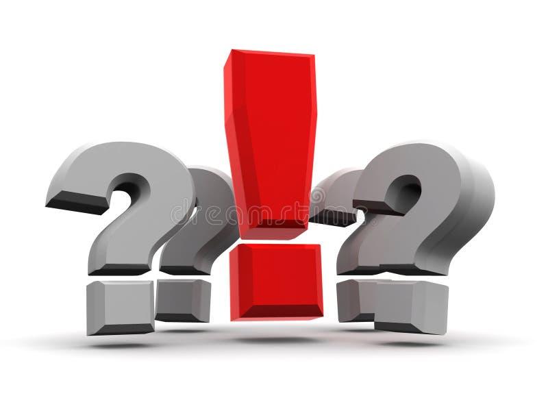 Gruppo di domande e di esclamazione illustrazione vettoriale