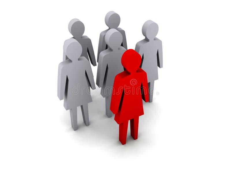 Gruppo di donne. Direzione. Lavoro di squadra. illustrazione di stock