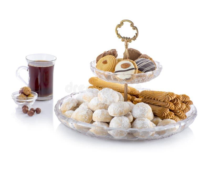 Gruppo di Eid Cookies dolce fotografia stock libera da diritti