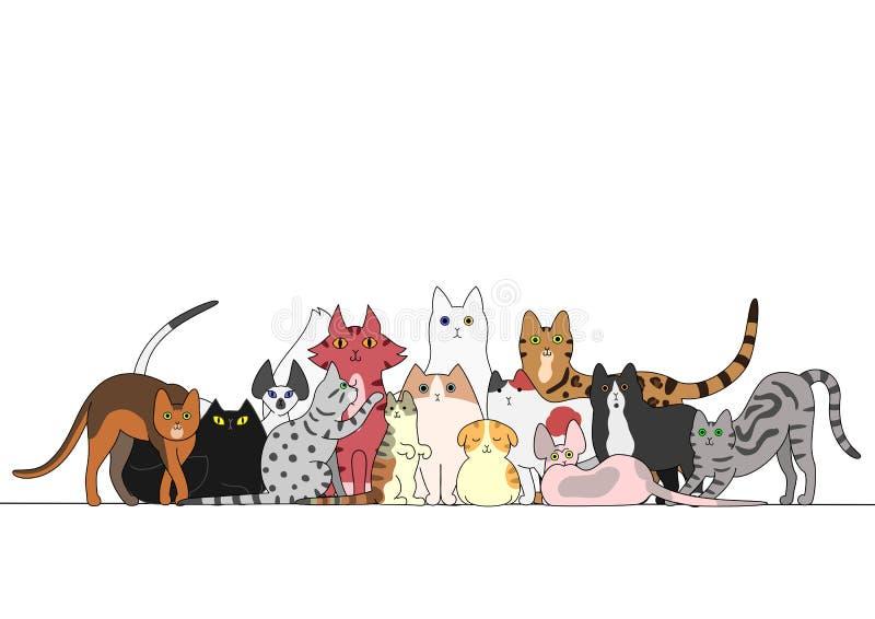 Gruppo di gatti royalty illustrazione gratis