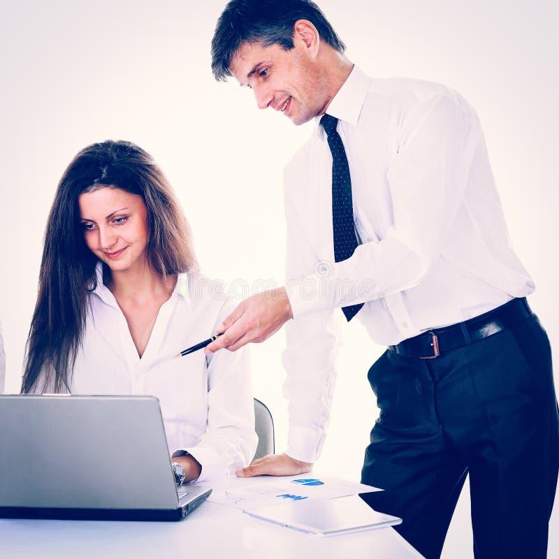 Gruppo di gente di affari di lavoro Isolato su priorit? bassa bianca fotografia stock