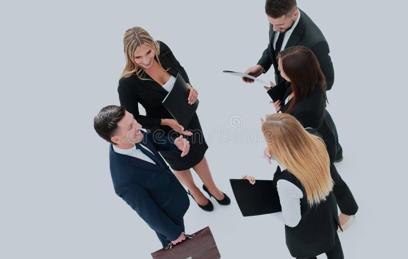 Gruppo di gente di affari Uomo d'affari Isolato sul backgro bianco fotografia stock libera da diritti