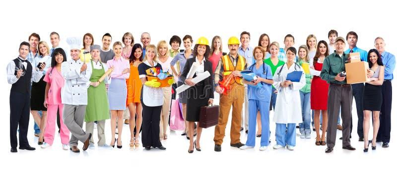 Gruppo di gente dei lavoratori immagini stock libere da diritti
