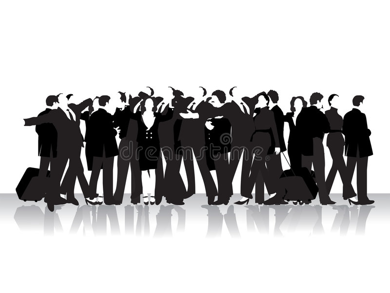 Gruppo di gente di affari royalty illustrazione gratis