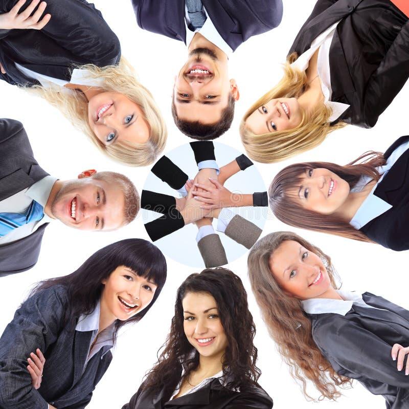 Gruppo di gente di affari che si leva in piedi nella calca immagine stock