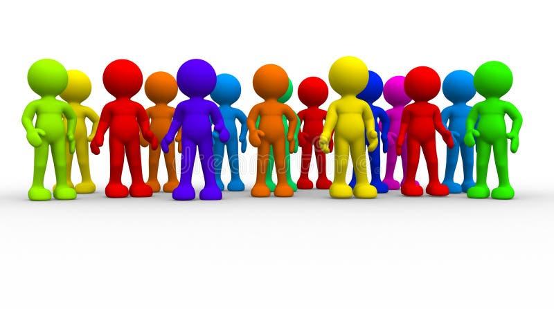 Gruppo di gente differente illustrazione di stock