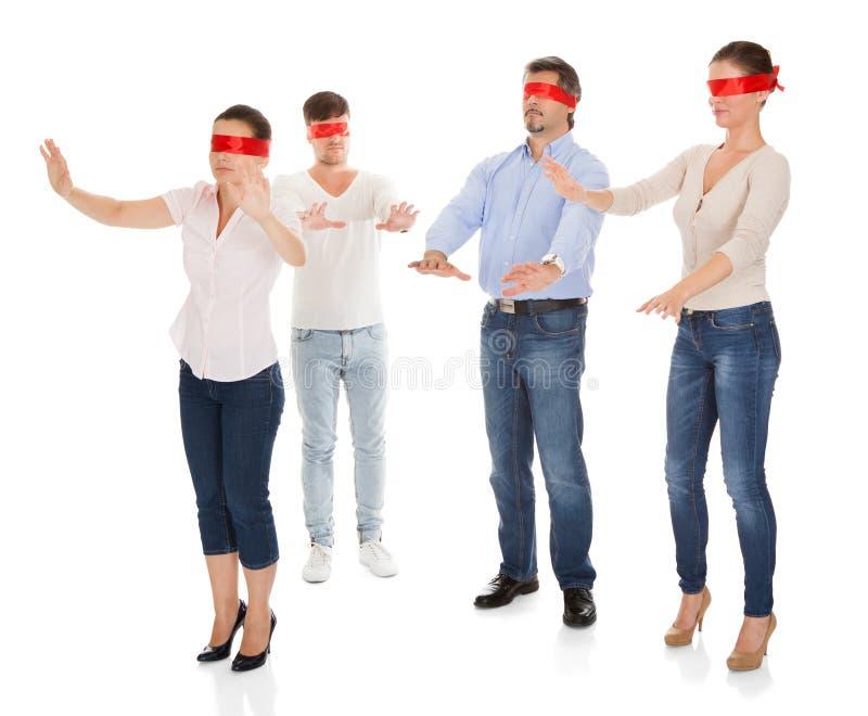 Gruppo di gente disorientata immagini stock libere da diritti