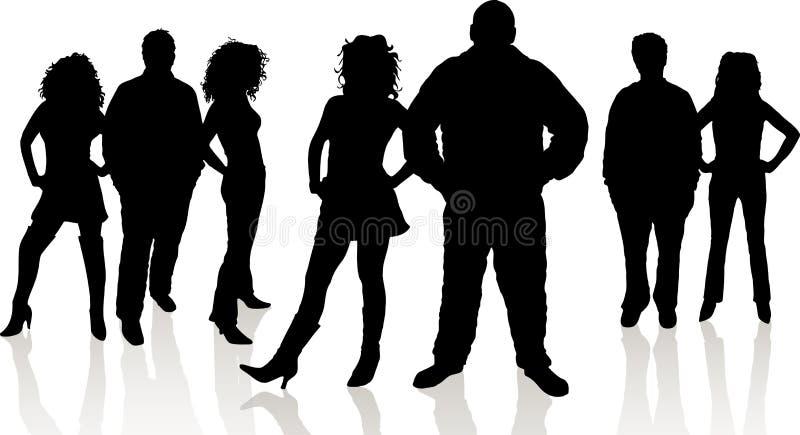 Gruppo di giovani illustrazione vettoriale