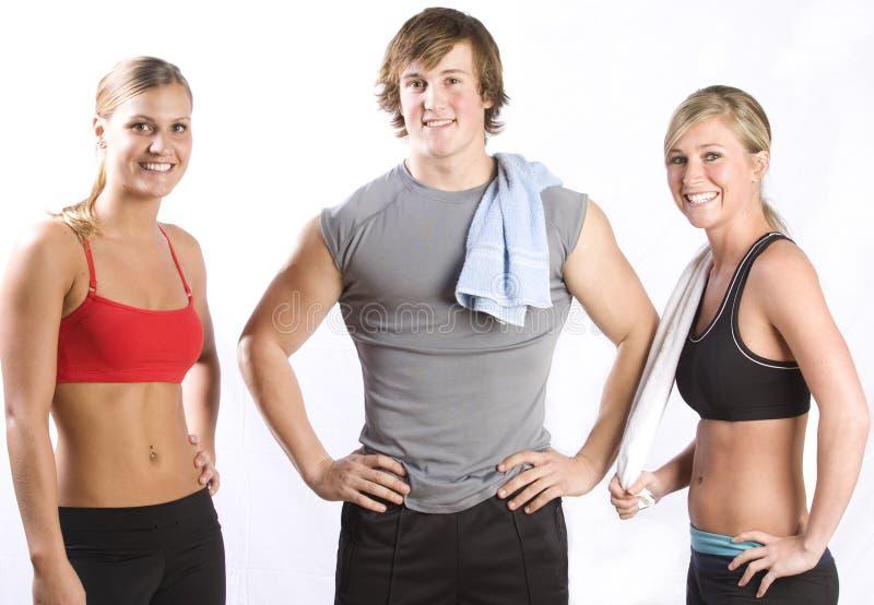 Gruppo di giovani in buona salute fotografie stock
