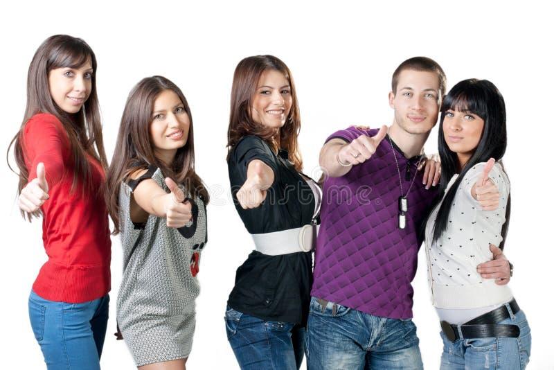 Gruppo di giovani di felicità fotografia stock libera da diritti