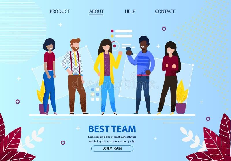 Gruppo di giovani impiegati di ufficio migliore Team Meeting royalty illustrazione gratis