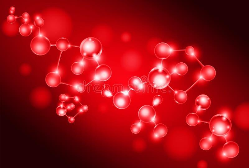 Gruppo di insieme delle cellule del DNA della molecola fotografie stock