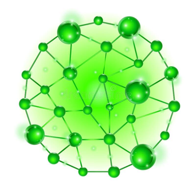 Gruppo di insieme delle cellule del DNA della molecola fotografia stock