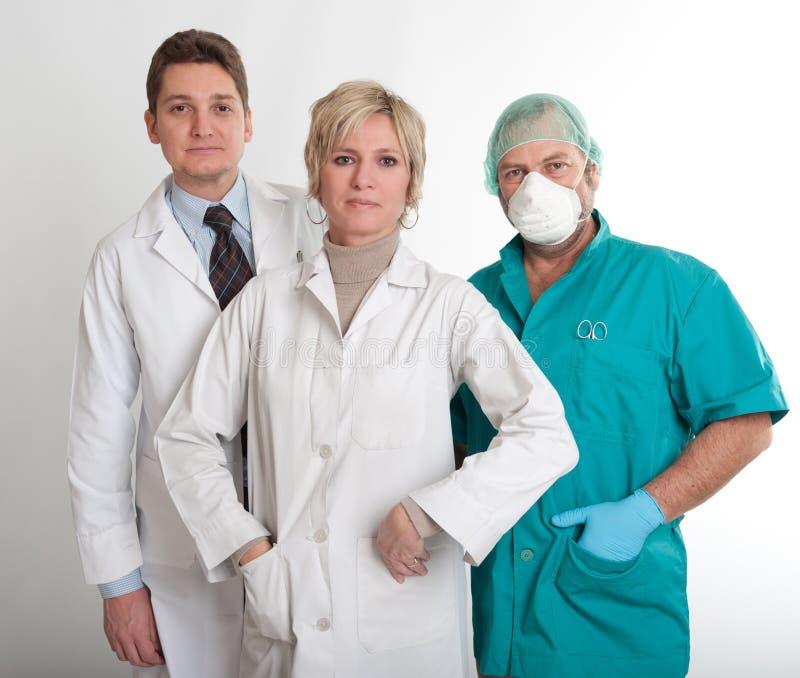 Gruppo di lavoro dell'ospedale immagini stock