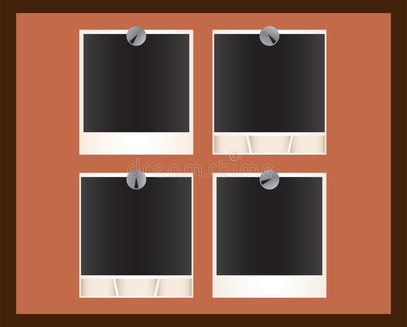 Gruppo di maschere del Polaroid illustrazione di stock
