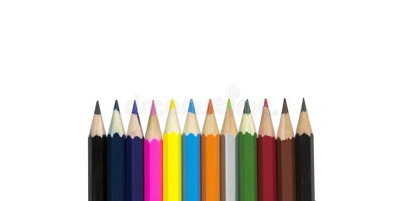 Gruppo di matite di colore fotografie stock libere da diritti