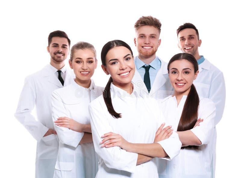 Gruppo di medici isolati Concetto di unit? fotografia stock libera da diritti