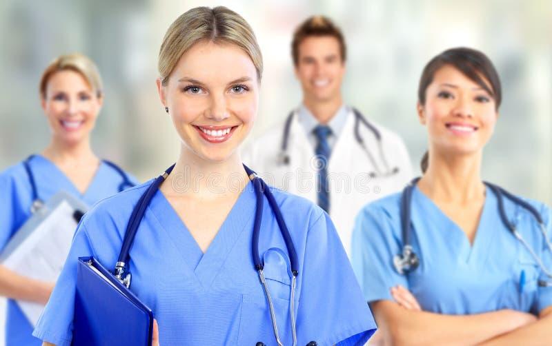 Gruppo di medici ospedalieri fotografia stock