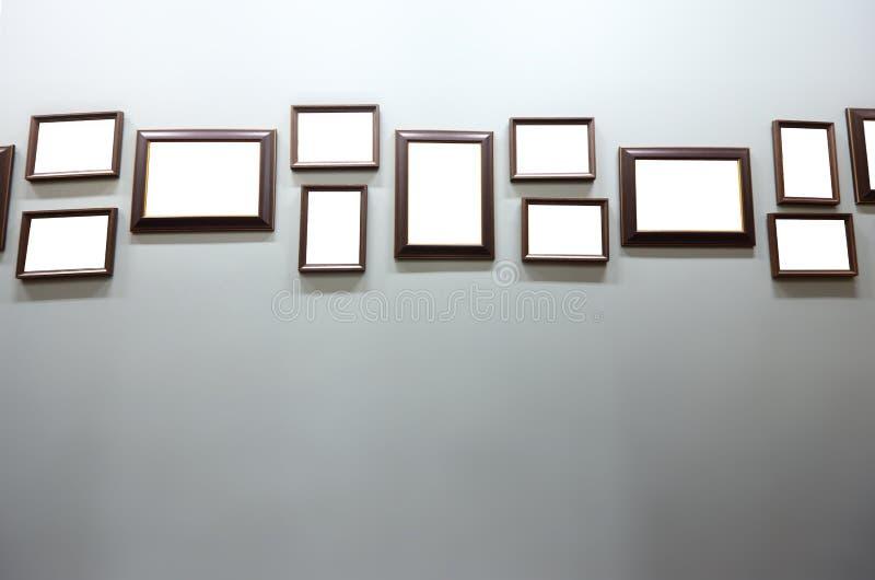 Gruppo di molti struttura vuota dell'immagine classica di legno della noce fotografia stock