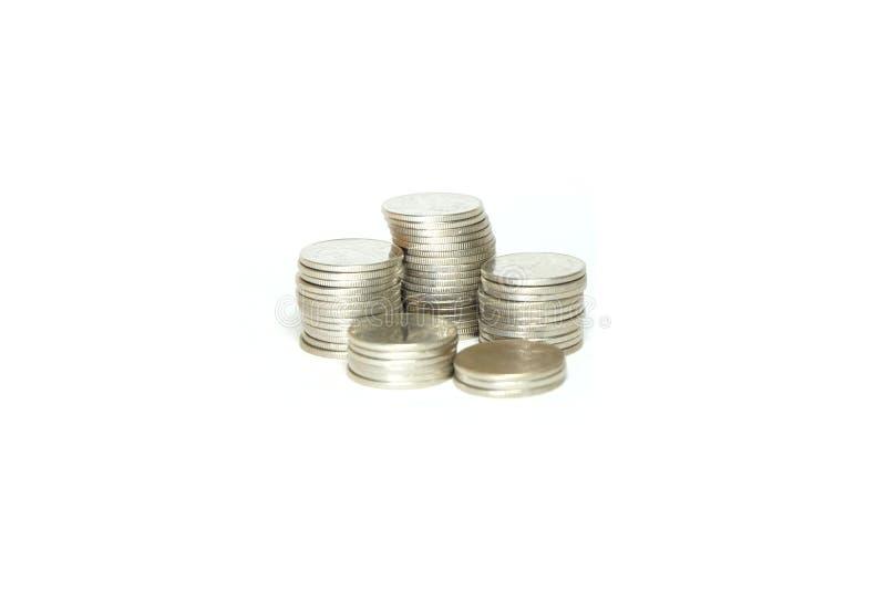 Gruppo di moneta d'argento fotografie stock libere da diritti