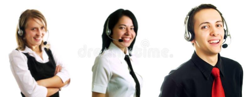 Gruppo di operatori della call center fotografia stock libera da diritti
