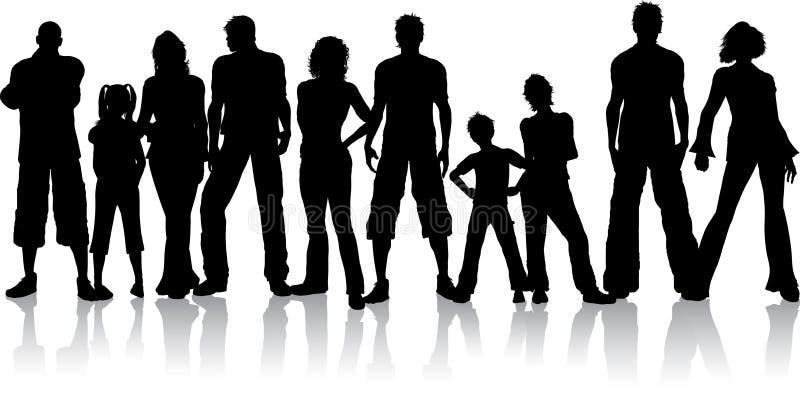 Gruppo di persone illustrazione vettoriale