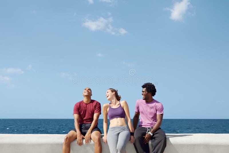 Gruppo di persone che ridono e che giocano fotografia stock libera da diritti
