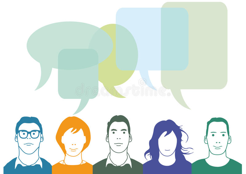 Gruppo di persone chiacchierata royalty illustrazione gratis