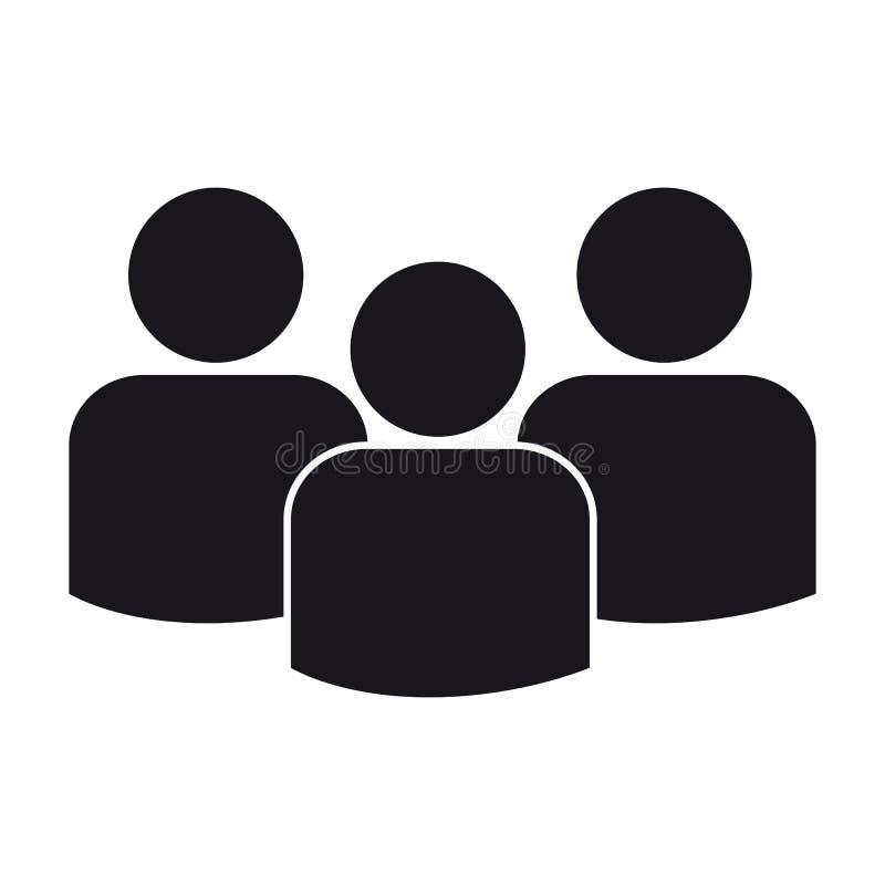 Gruppo di persone - icona piana di vettore per Apps ed i siti Web - isolati su bianco royalty illustrazione gratis