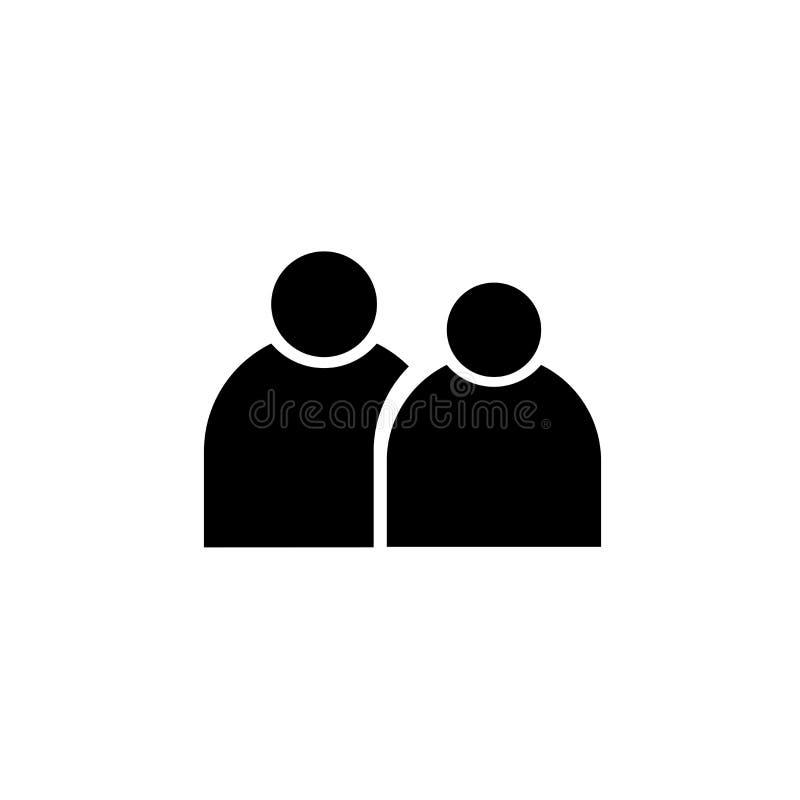 Gruppo di persone il segno ed il simbolo di vettore dell'icona isolato su fondo bianco, gruppo di persone il concetto di logo royalty illustrazione gratis