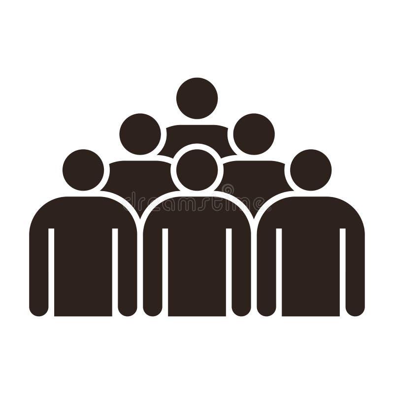 Gruppo di persone l'icona illustrazione vettoriale