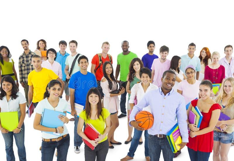 Gruppo di persone lo studente di college fotografia stock